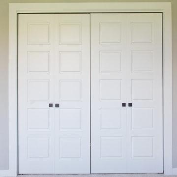 Craftsman Style 5 Panel Double Bifold Door