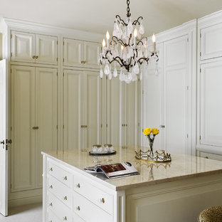 Inspiration for a timeless carpeted dressing room remodel in New York