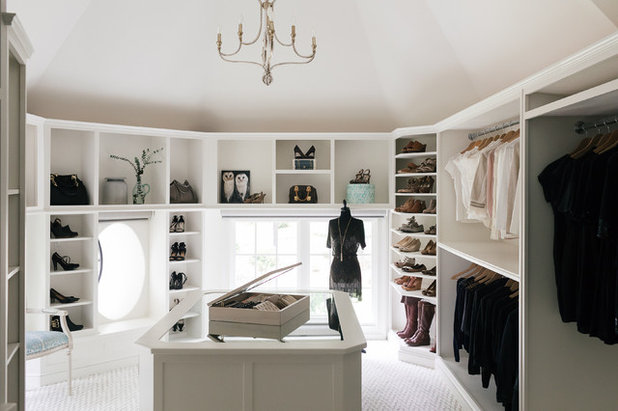 Transitional Closet by Vincent Longo Custom Builders