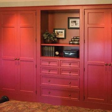 Custom Built In Closet-Red