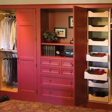Custom Built In Closet-Red