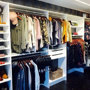 Custom Closet Shelving for Retail Boutique Beau&Arrow at The Boxyard