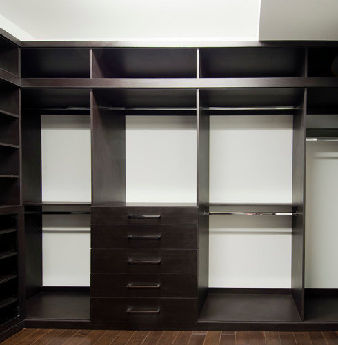 Sleek Modern Walk In Closet Home Design Ideas Pictures