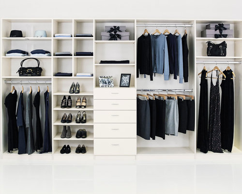 Large Reach-In Closet Design Ideas, Remodels & Photos