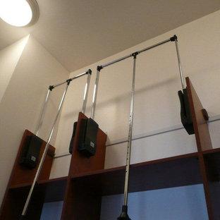 Eklektisk inredning av en garderob