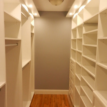 Custom His and Hers Walk-in Closets in Weston, CT