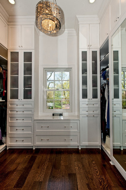Transitional Closet by Newgard Custom Homes