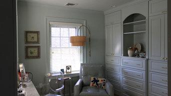 Custom Painted Master Closet