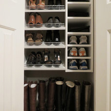 Transitional Closet by Gotham Closets