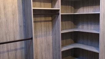 Custom Textured Wood Walk-In Closet