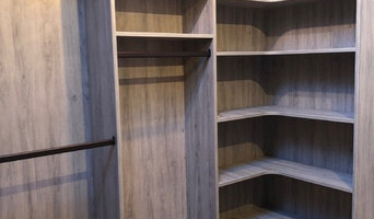 Custom Textured Wood Walk-In Closet