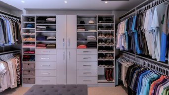 Custom Walk-in Closet and Shoe / Purse Storage