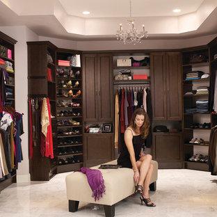 Custom Walk-In Closet Organizers: Chocolate Pear