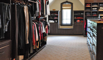 Dark Wood Grained Walk-in Closet