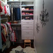 Eclectic Closet Daughter's Walk-in Closet