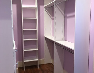 Daughters Walk-in Closet & Basement Storage Closet