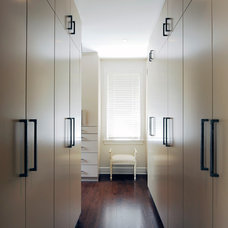 Contemporary Closet by Chuck Mills Residential Design & Development Inc.