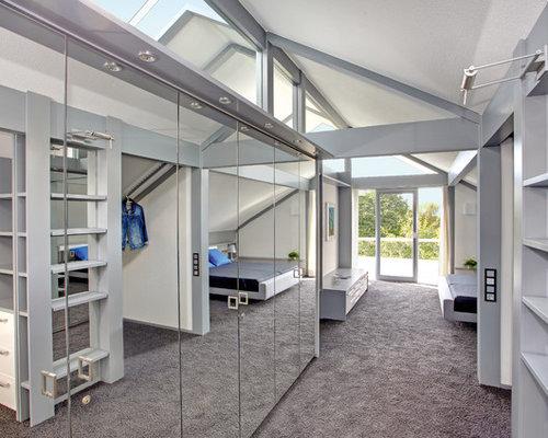 Moderne Ankleidezimmer Fotos : Moderne ankleidezimmer mit teppichboden ideen design bilder houzz