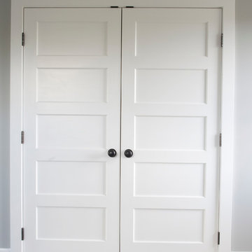 Double Closet Door - Horizontal 5 Panel Painted Wood
