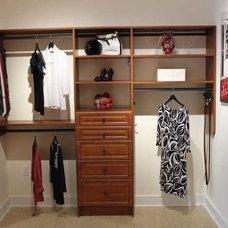 Eclectic Closet Double Hang, Drawer Bank and Medium Hang