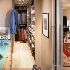 Contemporary Closet by Bruce Bierman Design