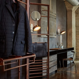 Inspiration for an industrial storage and wardrobe in Los Angeles.