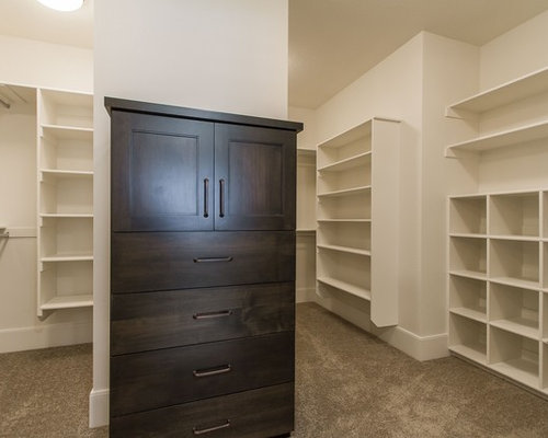 Best Farmhouse Closet with Dark Wood Cabinets Design Ideas & Remodel Pictures   Houzz