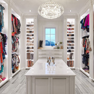 Walk In Closet Traditional Gray Floor Idea Houston With