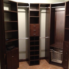Contemporary Closet by Shannon Cabinets