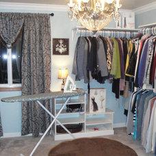 Traditional Closet Extra bedroom turned closet