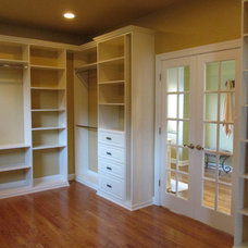 Farmhouse Closet by David Jones Builders