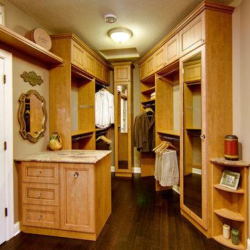 Featured Master Bedroom Walk-in Closet