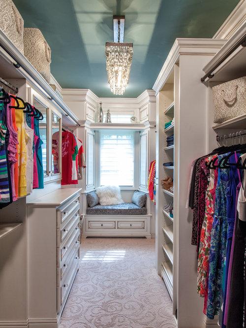 Best women 39 s closet design ideas remodel pictures houzz for Ladies closet design