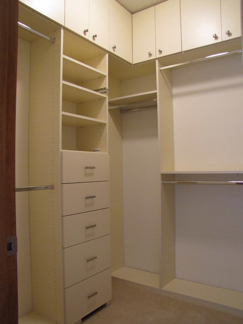 Small Traditional Walk-In Closet Design Ideas, Remodels ...