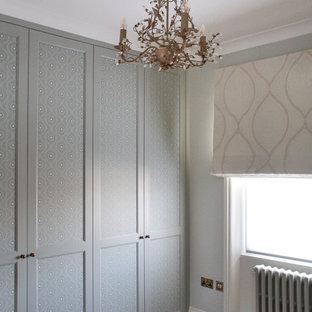 Imagen de armario unisex, clásico, con puertas de armario verdes