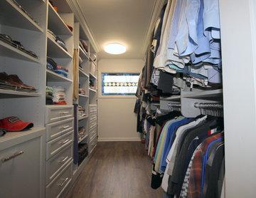 Gray Master Closet