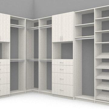 Gray-On-Gray Walk-In Closet