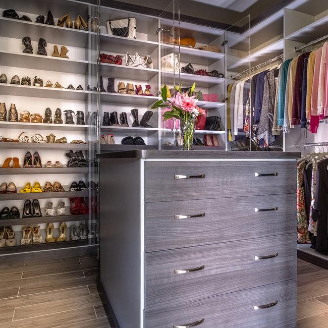 Grey Contemporary Closet