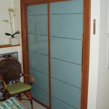 Guest closet sliding doors