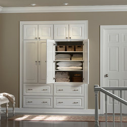 Hallway Closet - Burnham- Maple painted White