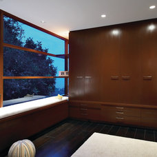Contemporary Closet by Aria Design Inc