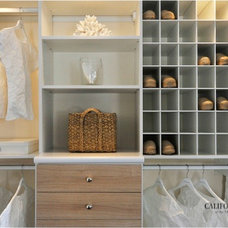 Contemporary Closet by California Closets of the Texas Hill Country