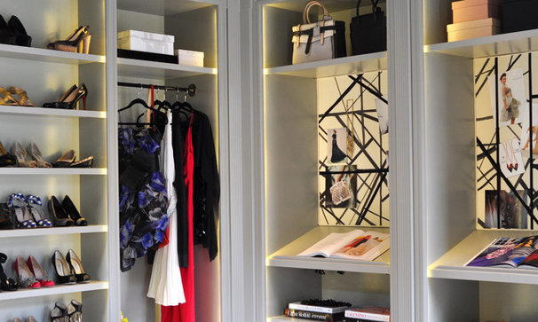 Contemporary Closet Her Office: Catherine Kwong Design