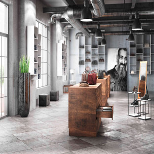 Inspiration for an industrial storage and wardrobe in Atlanta.