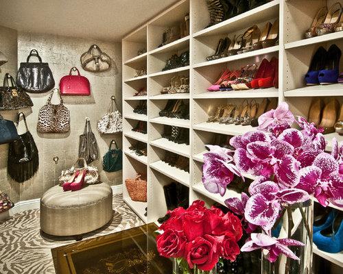 Best handbag storage design ideas remodel pictures houzz - How to hang bags in closet ...