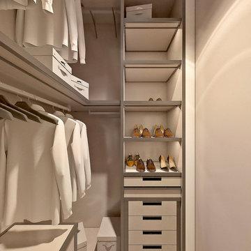 High End Walk-in Closet