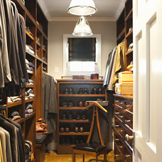 Transitional Closet by Tim Barber LTD Architecture & Interior Design