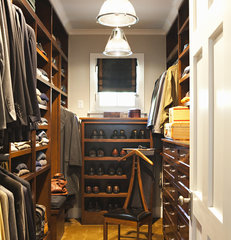 traditional closet by Tim Barber LTD Architecture & Interior Design
