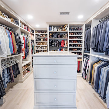 His and Hers Custom Walk-In Closet