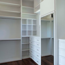 Traditional Closet by Collaborative Design Group-Architects & Interiors